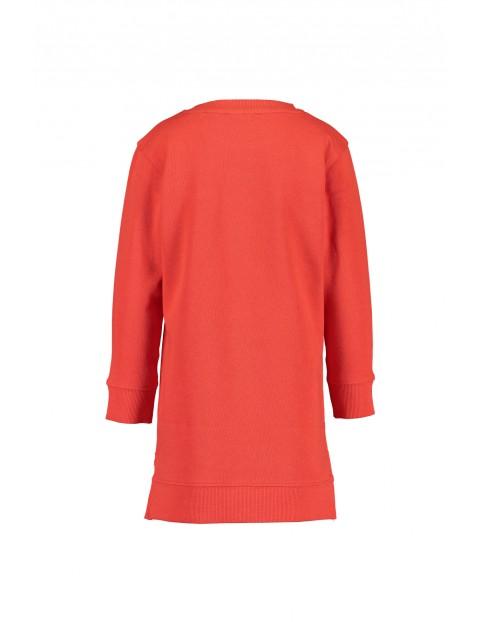 Tunika dla dziewczynki- czerwona z panterką