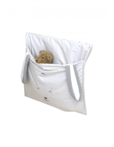 Przybornik - torba na łóżeczko Amy Midi Fluffy Grey