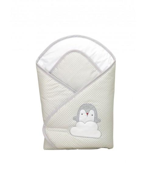 Becik usztywniany dla dziecka Amy Pingwiny-szary