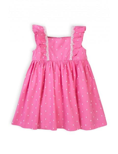 Bawełniana sukienka dziewczęca różowa