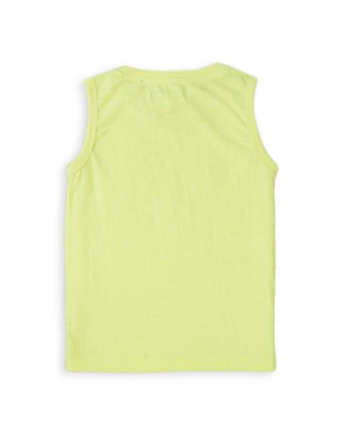 T-shirt chłopięcy w kolorze żółtym