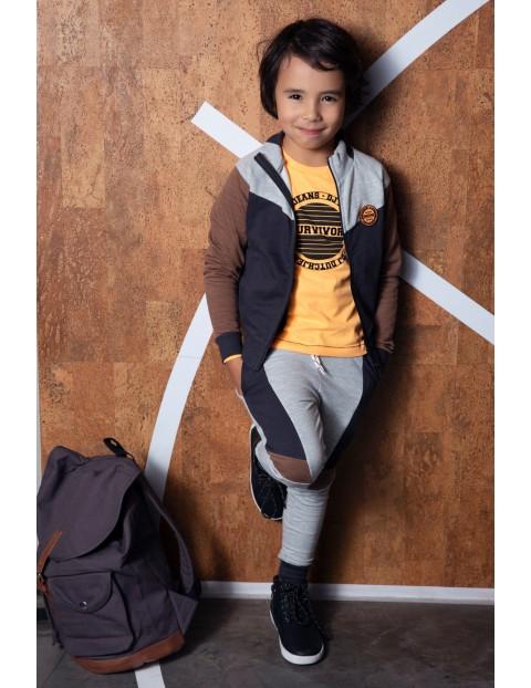 Bluza dresowa chłopięca trzykolorowa