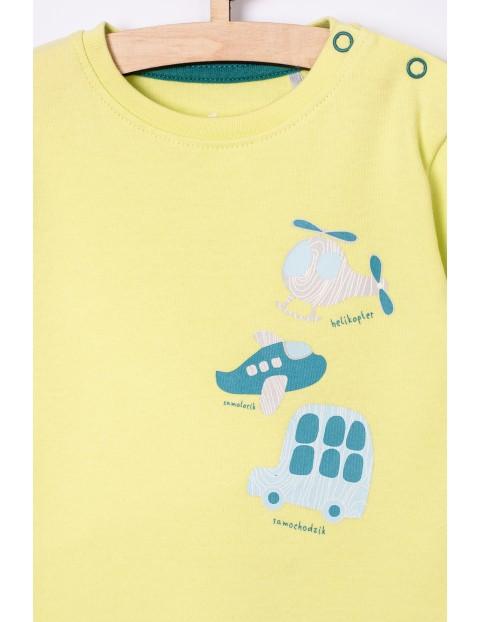 Body niemowlęce z długim rękawem - żółte