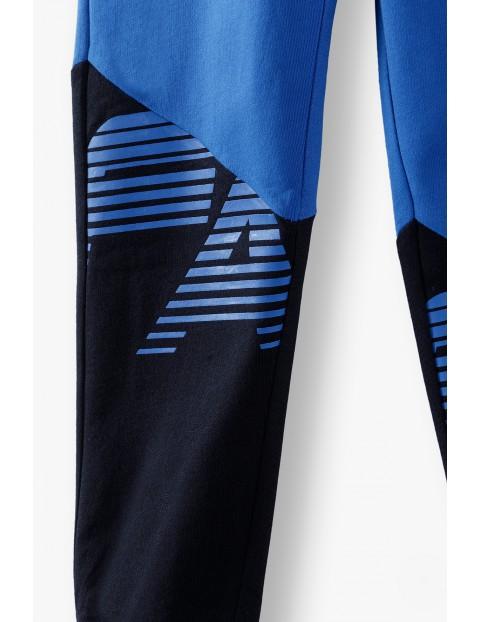 Spodnie dresowe chłopięce z napisem-Fast