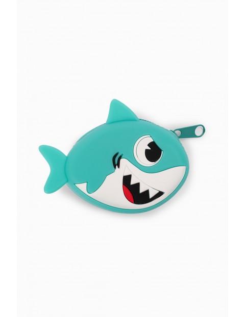 Portfel chłopięcy w kształcie rekina