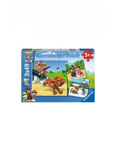 Puzzle Psi Patrol Zespół na 4 łapach - 3x49 elementów