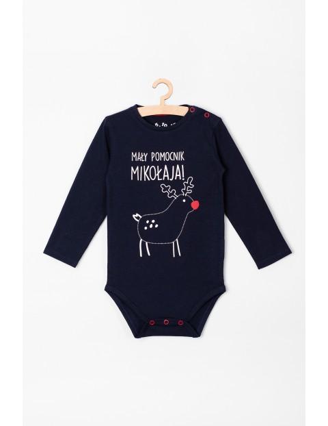 Body niemowlęce z napisem - Mały pomocnik Mikołaja