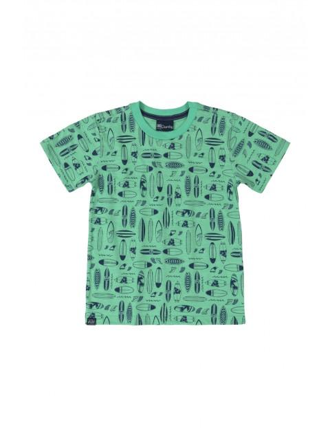 T-shirt chłopięcy Surf - zielony