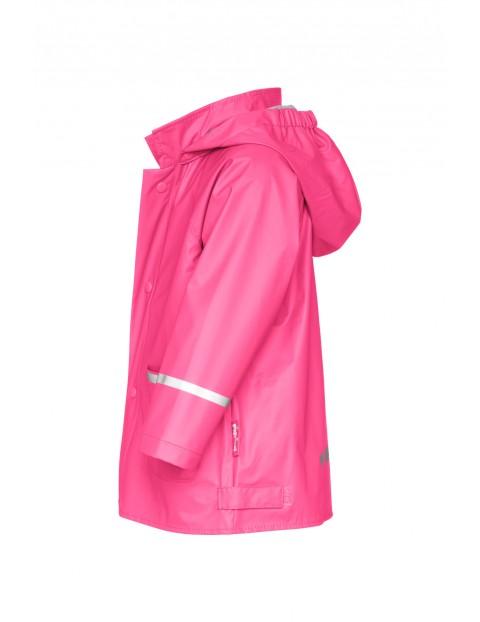 Kurtka przeciwdeszczowa dla dziewczynki - różowa