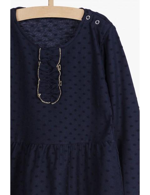 Granatowa elegancka sukienka dla dziewczynki