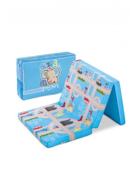 Materac Sleeper playpark w kolorze niebieskim 60x120cm