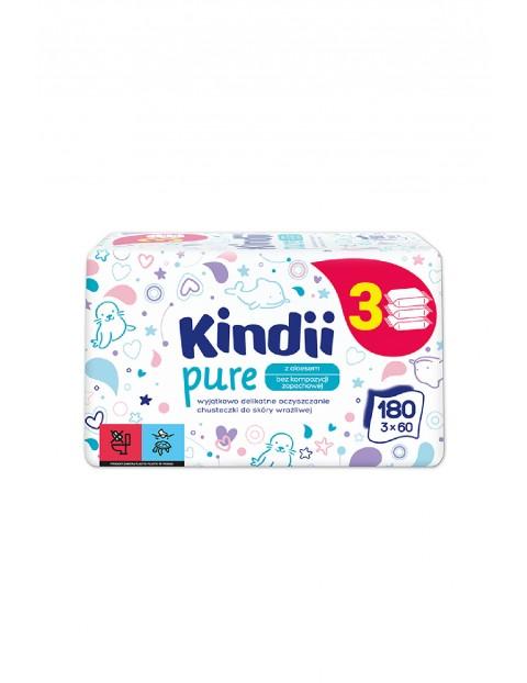 Chusteczki dla dzieci Kindii Pure 3x60 szt.