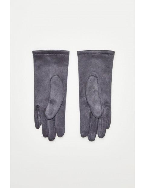 Rękawiczki z aplikacjami  - szare