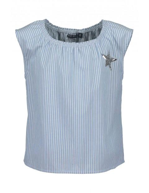 Koszulka dziewczęca niebieska z cekinową gwiazdką