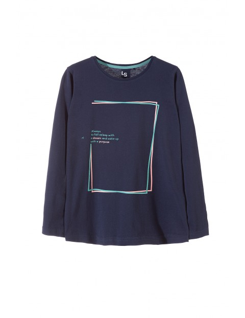 Bluzka dziewczęca długi rękaw 4H3316