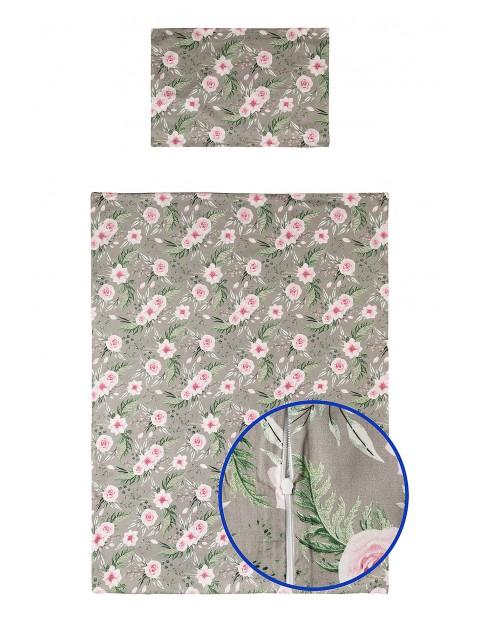 Pościel bawełniana 135x100cm Kolorowe kwiaty