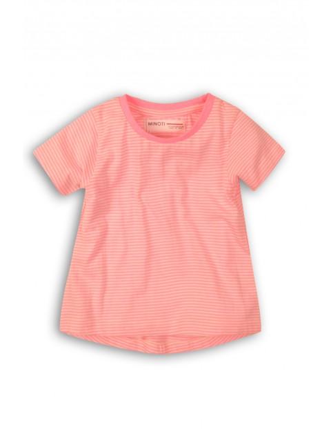 T-Shirt niemowlęcy różowy bawełniany