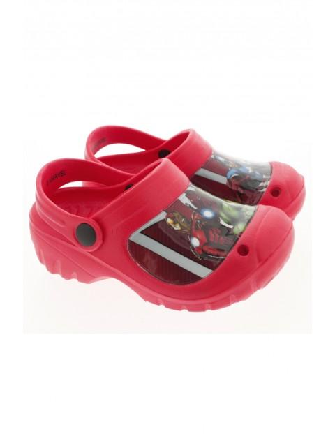 Czerwone sandały dla chłopca Spiderman