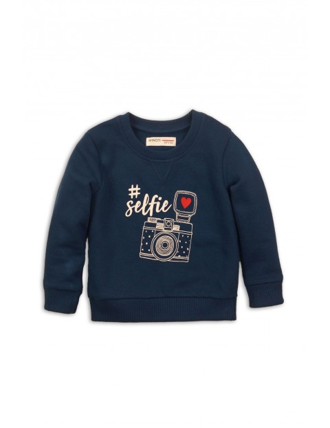 Bluza dresowa dziewczęca granatowa- selfie