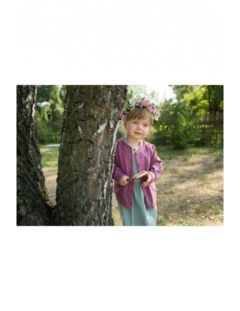 Dziewczęca bluza dresowa - fioletowa