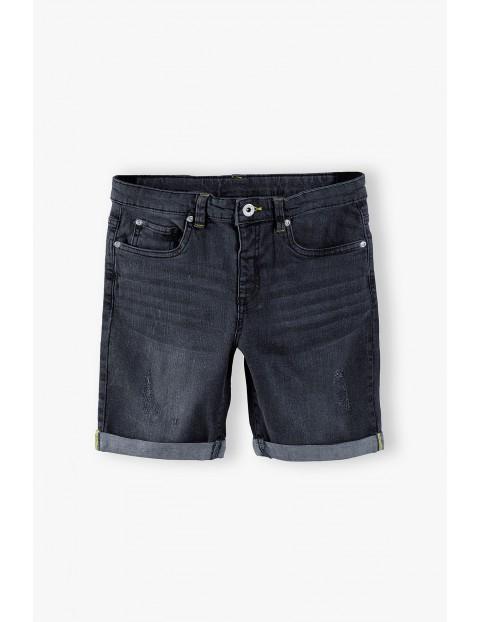 Szorty chłopięce jeansowe w kolorze szarym