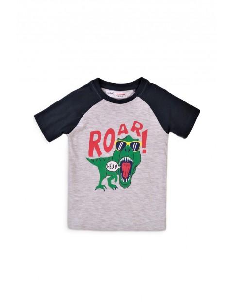 Bawełniany T-shirt niemowlęcy z Dinozaurem