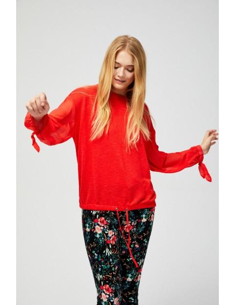 Sweter damski - czerwona