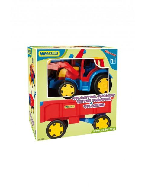 Traktor- ładowarka z przyczepą