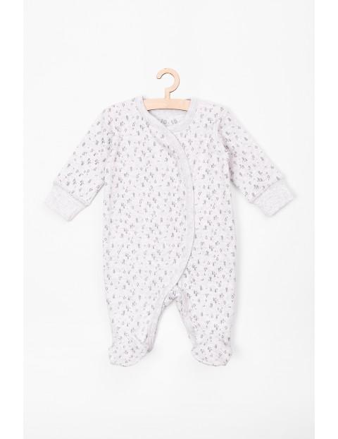 Pajac dla niemowlaka szary- 100% bawełna