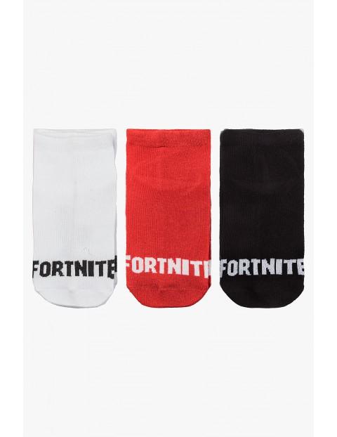Skarpety chłopięce Fortnite białe, czerwone, czarne 3pak