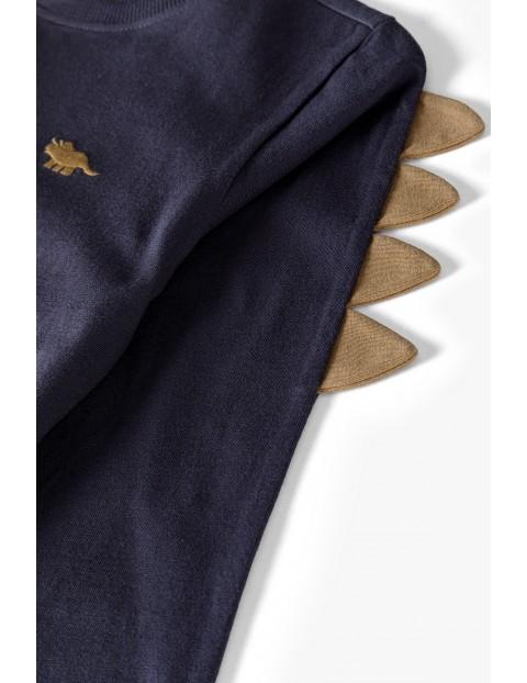 Bluzka chłopięca z długim rękawem z detalem 3D