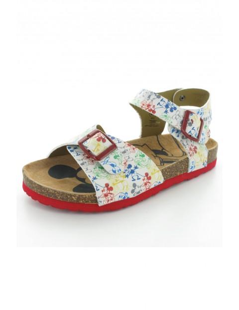 Sandały dziewczęce z nadrukiem Myszki Mickey