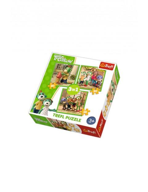 Puzzle 3w1 - Zabawy Treflików 1Y35GW