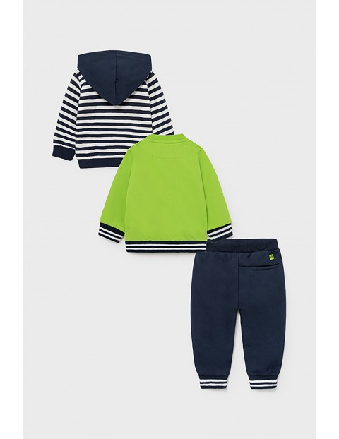 Komplet chłopięcy - rozpinana bluza z kapturem  pulower , długie spodnie dresowe