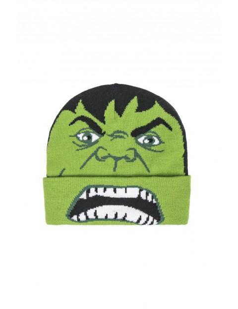 Czapka chłopięca  Avengers  - zielona rozm 52/54