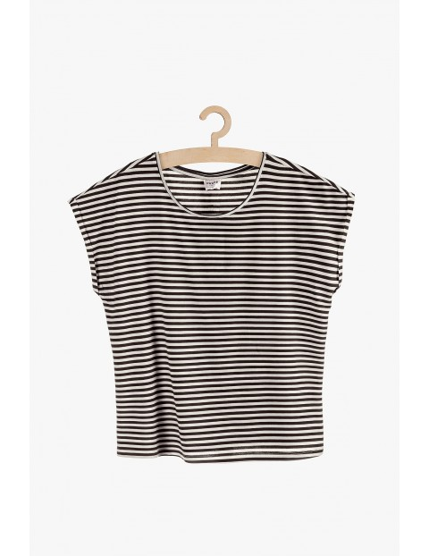 T-shirt damski w paski