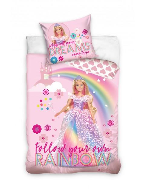 Pościel Barbie Rainbow 160x200+70x80cm