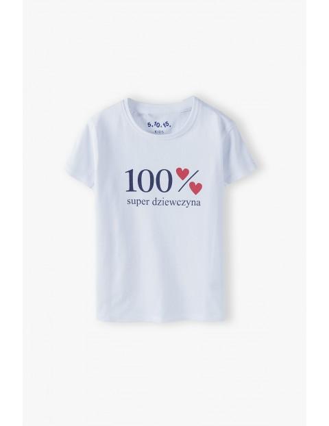 Bluzka dziewczęca 100% Super dziewczyna