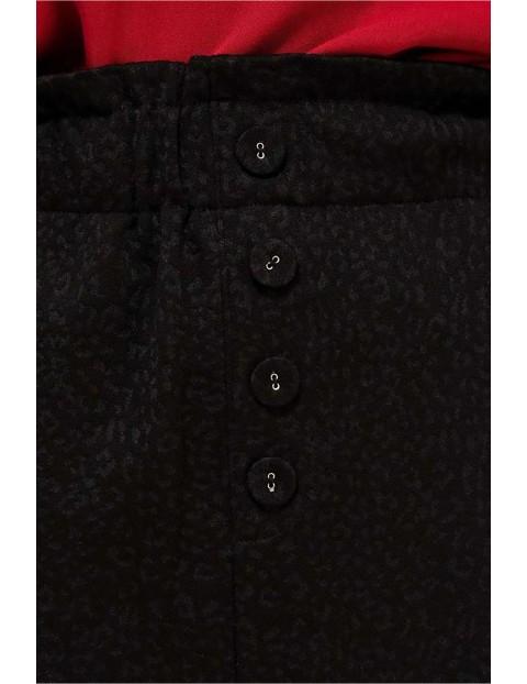 Spódnica z ozdobnymi guziczkami  - czarna