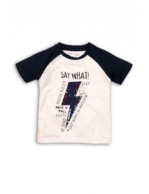 Koszulka chłopięca bawełniana z cekinami