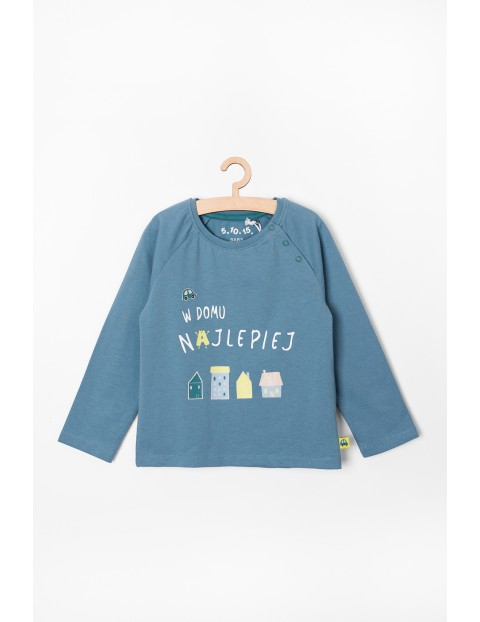 Bluzka niemowlęca z napisem - W domu najlepiej