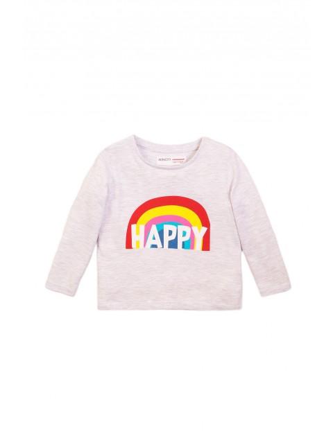 Bluzka niemowlęca szara z tęczą - Happy