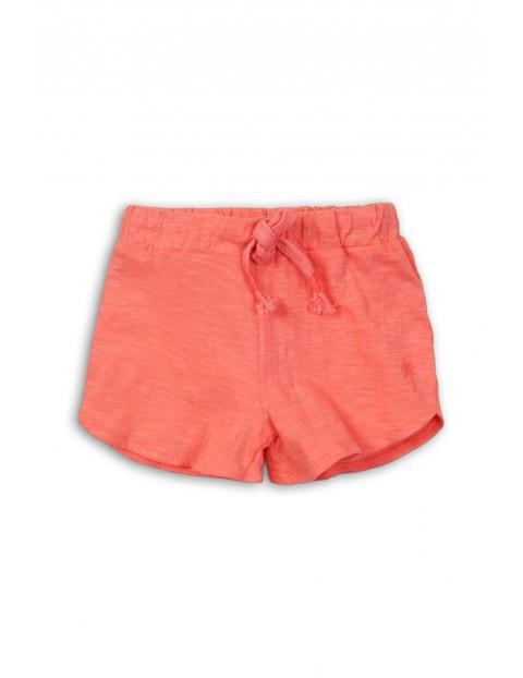 Bawełniane szorty dla dziewczynki w kolorze koralowym rozm 92/98