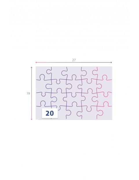 Puzzle super color Świnka Peppa - 2x20 elementów wiek 3+