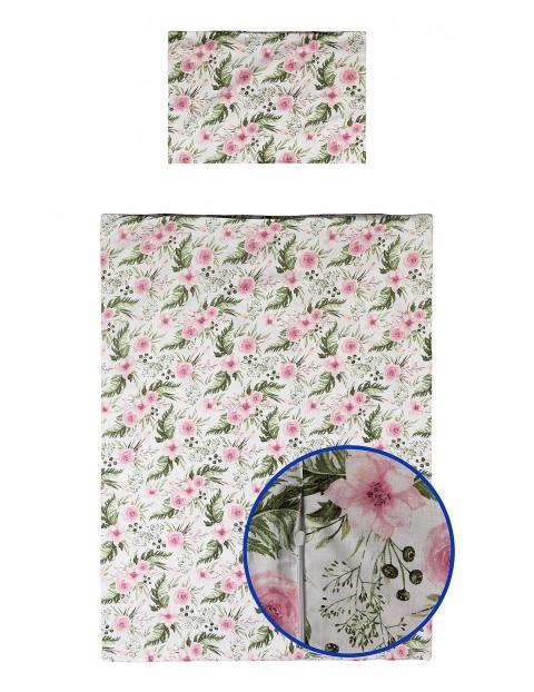 Pościel bawełniana dla dziecka w kolorowe kwiatki 135x100cm