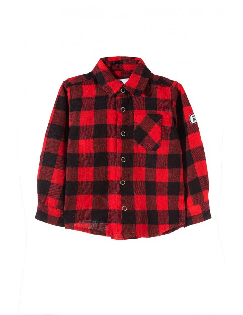 Koszula niemowlęca w kratę 5J3501