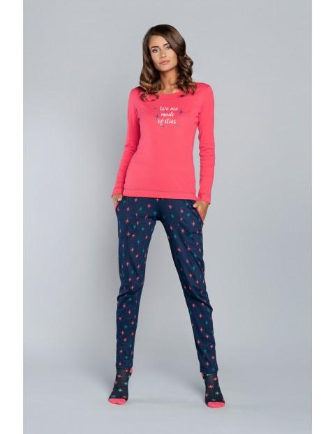 Piżama Gemini długi rękaw i długie spodnie