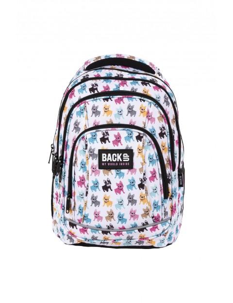 Plecak BackUp dziewczęcy w kolorowe pieski