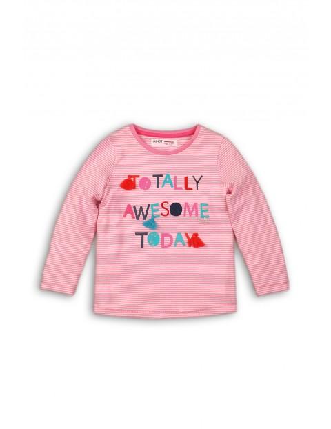 Bluzka dla dziewczynki- kolorowe nadruki