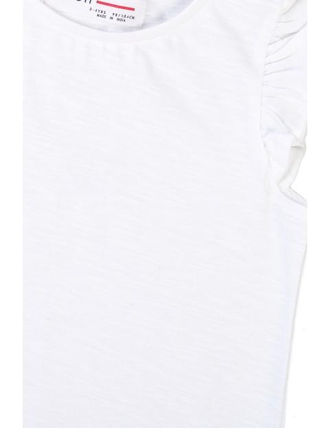 Bawełniana bluzka dziewczęca biała